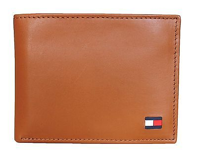 Ví nam Tommy Hilfiger Men's Leather Dore Passcase Billfold Wallet, British Tan