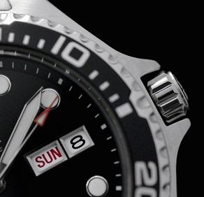 Hiện thị ngày giờ Đồng hồ Orient Black Ray II FA002004B9