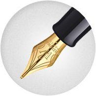 Ngòi bút Waterman Hemisphere Gold Trim Fountain Pen Matte Black
