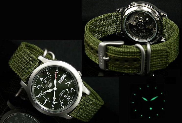 Cơ chế hoạt động đồng hồ Seiko 5 SNK805 (SNK805K2)