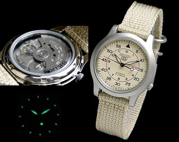 Cơ chế hoạt động đồng hồ Seiko 5 SNK803 (SNK803K2)
