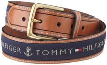 Dây lưng nam Tommy Hilfiger Men's Ribbon Inlay Belt - Size 34 - 11TL02X032