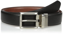 Dây lưng nam Tommy Hilfiger Men's Dress Reversible Belt with Polished Nickel Buckle - Size 34