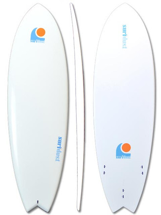 SURFDUST - 6ft Fish Tail Mini-Mal Surfboard