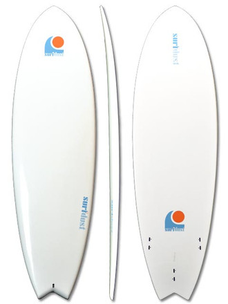 SURFDUST - 6.4ft Mini-Mals Fish Tail Surfboard