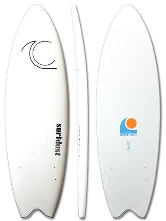 SURFDUST - Primo Soft Surfboard 5.8ft Fish Twin Fin