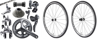 Shimano Ultegra 6800 STI Groupset with a Vittoria Session Wheelset