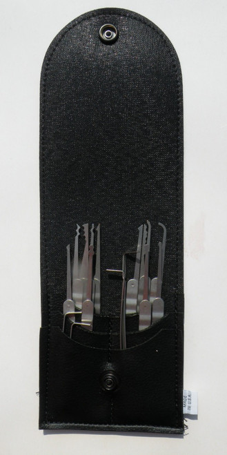 16 Piece Laminated Ripple Handle Lock Pick Set