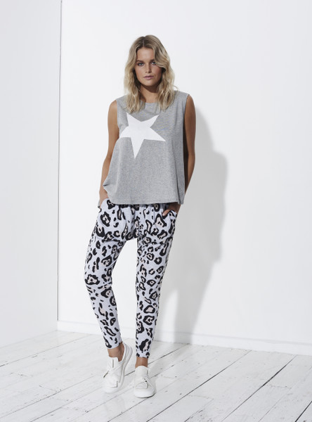 Comeback Pant - Grey Leopard