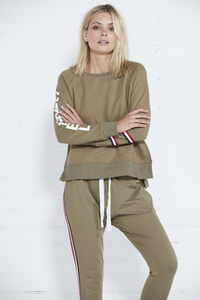 Athletic Sweater - Khaki