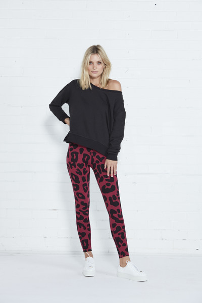 Mason Leggings - Berry Leopard