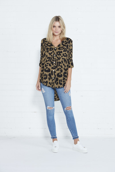 Empire Shirt - Khaki Leopard