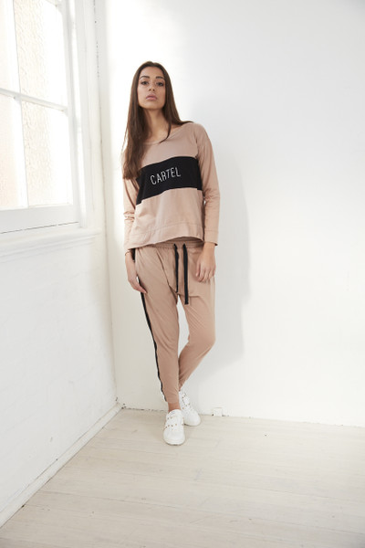 Kenji Comeback Pants - Blush w Black