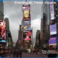 New York Scenery Cleaning Cloths: Evening On Times Square