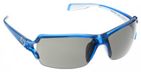 Native Eyewear Polarized Sunglasses: Blanca in Translucent Blue & Grey