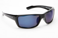 Native Eyewear Polarized Sunglasses: Wazee in Iron & Blue Reflex