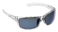 Native Eyewear Polarized Sunglasses: Wazee in Crystal & Blue Reflex