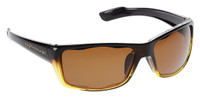 Native Eyewear Polarized Sunglasses: Wazee in Stout-Fade Iron & Brown