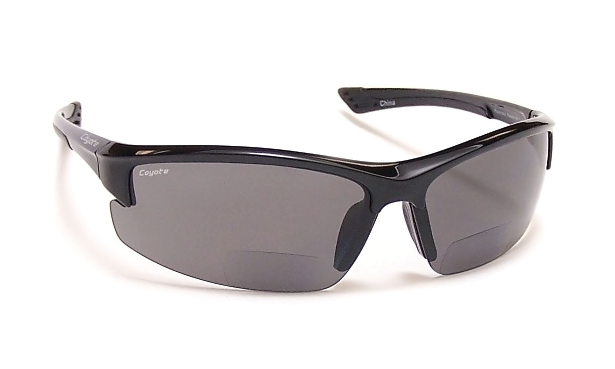 Coyote™ BP-7 Polarized Bi-focal Readers in Black ...