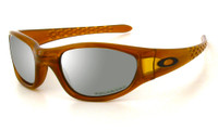 Oakley Ten X Bronze Designer Polarized Sunglasses in Orange & Silver Mirror