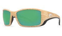 Costa Del Mar™ Polarized 580G Sunglasses: Blackfin in Ashwood & Green Mirror Lens