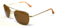 Randolph AF51432 55mm Aviator Polarized Sunglasses 23k Gold Plating