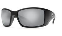 Costa Del Mar™™ Polarized 580G Sunglasses: Blackfin in Black & Silver Mirror Lens