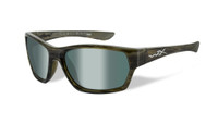Wiley-X™ Moxy in Olive Stripe & Polarized Platinum Flash Lens