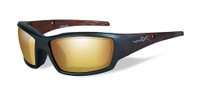 Wiley-X™ Tide in Hickory Brown & Polarized Gold Mirror Lens