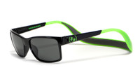 Hoven Eyewear MONIX in Black / Bright Green with Gloss Grey & Grey Polarized
