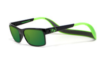 Hoven Eyewear MONIX in Black / Bright Green with Gloss Grey & Green Polarized