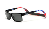 Hoven Eyewear MONIX in Black American Flag with Gloss Grey & Grey Polarized