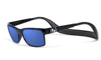Hoven Eyewear MONIX in Black with Turtle Gloss Grey & Sky Blue Polarized