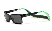 Hoven Eyewear MONIX in Black Green with Turtle Gloss Grey & Grey Polarized