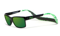 Hoven Eyewear MONIX in Black Green with Turtle Gloss Grey & Green Polarized
