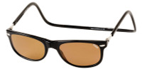 Clic Magnetic Sunglasses Ashbury in Black w/ Amber Lens