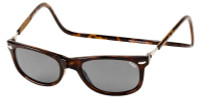 Clic Magnetic Sunglasses Ashbury in Tortoise w/ Grey Lens