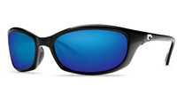Costa Del Mar™ Polarized 580G Sunglasses: Harpoon in Black & Blue Mirror Lens