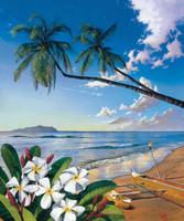 Hawaiian Beach 240-75b-4 Artwork Micro Fiber Cleaning Cloth