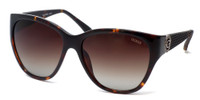 Guess Designer Polarized Sunglasses GUP7348 in Tortoise Frame & Brown Gradient Lens