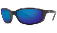 Costa Del Mar™™ Polarized 580G Sunglasses: Brine in Black & Blue Mirror Lens