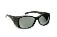 Haven Designer Fitover Sunglasses Balboa in Black & Polarized Grey Lens (LARGE)