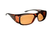 Haven Designer Fitover Sunglasses Denali in Matte Tortoise & Polarized Amber Lens (MEDIUM/LARGE)