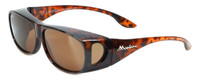 Montana Designer Fitover Sunglasses F02A in Gloss Tortoise & Polarized Brown Lens