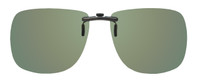 Montana Eyewear Clip-On Sunglasses C1A in Polarized G15 Green 62mm