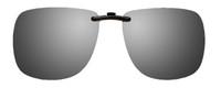 Montana Eyewear Clip-On Sunglasses C3 in Polarized Silver Mirror/Grey 62mm