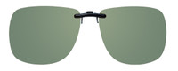 Montana Eyewear Clip-On Sunglasses C11A in Polarized G15 Green 62mm