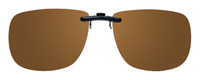Montana Eyewear Clip-On Sunglasses C12B in Polarized Amber 54mm