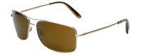 Reptile Designer Polarized Sunglasses Burmese in Gold with Gold Mirror Lens
