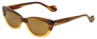 Reptile Designer Polarized Sunglasses Queen in Tortoise-Fade with Gold Mirror Lens